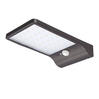 Snape Led Solar Floodlight With Pir Matt Black 400lm 8403p