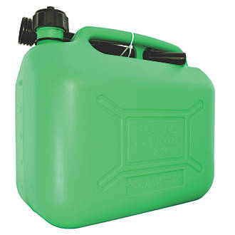 Hilka Pro Craft Plastic Fuel Can Green 10ltr Fuel Pumps Cans Screwfix Com