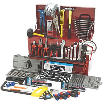 Heavy Duty Plastic Tool Box Set Kit Storage Small Medium Large DIY Mechanic 3 Pc