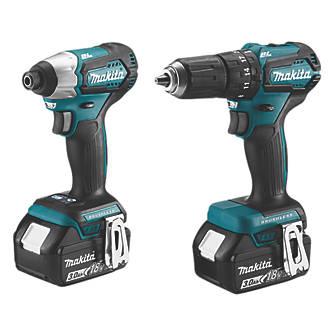 Makita DLX2221S 18V 3 0Ah Li-Ion LXT Brushless Cordless Combi Drill &  Impact Driver Twinpack