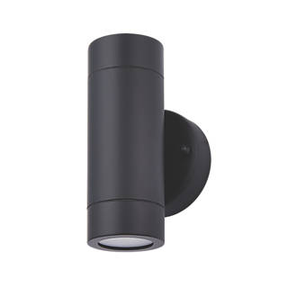 new style 27e55 cb72a LAP Bronx Outdoor Up & Down Wall Light Black