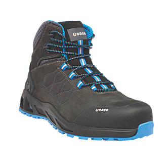 3d28afa5d82 BASE K-Road Top B1001B Safety Boots Black / Blue Size 8