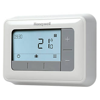 Honeywell Home T4 Wired Programmable Thermostat Wired Thermostats Screwfix Com