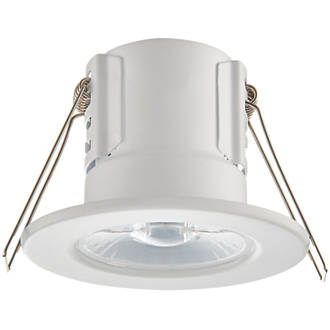 official photos 907ee 392e7 LAP CosmosEco Fixed Fire Rated LED Downlight Contractor Pack Matt White  500lm 5.5W 220-240V 10 Pack