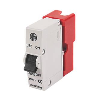 Wylex 32A SP Type B Plug-In MCB | MCBs | Screwfix.com | Wylex Fuse Box Spares |  | Screwfix.com