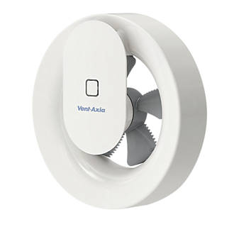 Vent Axia Svara 409802 4w Bathroom Extractor Fan App Controlled White 240v Bathroom Extractor Fans Screwfix Com