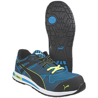 e1d38596c09013 Puma Blaze Knit Low Safety Trainers Blue Size 8