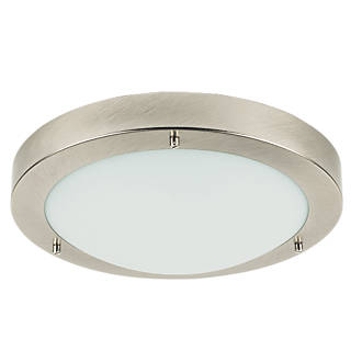 portal bathroom ceiling light brushed chrome es 60w bathroom ceiling lights screwfixcom - Bathroom Ceiling Lights