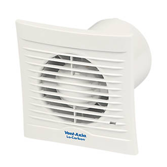 Vent Axia 100b 6 8 7w Bathroom Extractor Fan White 240v Bathroom Extractor Fans Screwfix Com