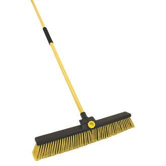 "24/"" Extra Large Sweeping Brush Broom Yard Brush Sweeper Garden Broom With Handle"