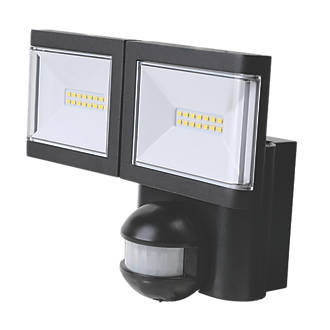Amazing Lap Twin Led Floodlight With Pir Black 2 X 10W Cool White Wiring Digital Resources Ommitdefiancerspsorg
