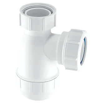 Mcalpine Basin Bottle Trap White 32mm Traps Screwfix Com