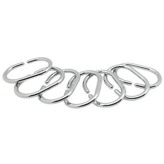 Shower Curtain Rings Chrome 12 Pack 920FH