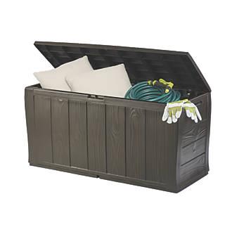 keter wood effect storage box 4 x 2 x 2 garden storage box screwfixcom - Garden Storeage Boxes