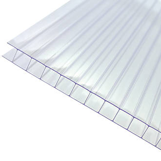 Axiome Twinwall Polycarbonate Sheet Clear 690 x 10 x 2500mm