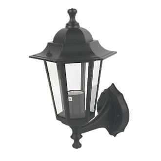 Coach lantern wall light black outdoor wall lights screwfix aloadofball Image collections