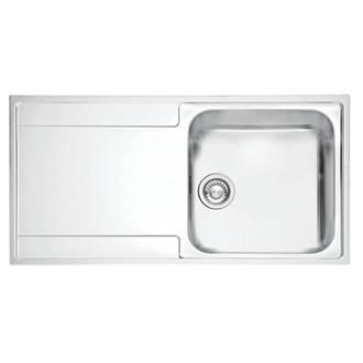 Franke Maris Slim Top Inset Kitchen Sink Stainless Steel 1 Bowl 1000 ...