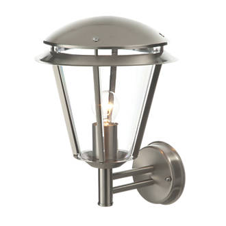 Antler brushed stainless steel wall light 60w outdoor wall lights antler brushed stainless steel wall light 60w outdoor wall lights screwfix aloadofball Image collections