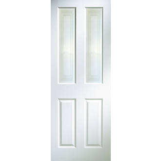 Jeld Wen Oakfield 2 Clear Light Primed White Wooden 4 Panel Internal Door 1981 X 762mm Doors Screwfix Com