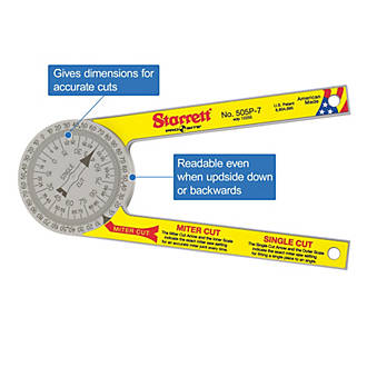 Starrett Pro Site Protractor Angle Measures Screwfix Com