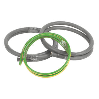 Prysmian 6181y 6491x Grey Green Yellow 1 Core 25mm Meter Tails Cable 1m Coil Cable Screwfix Com