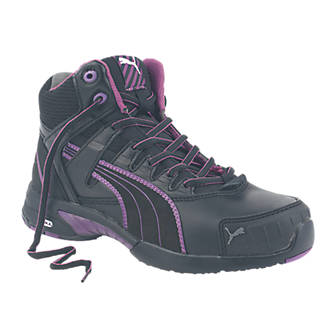 bf7a2aa36de Puma Mid Stepper Ladies Safety Trainer Boots Black Size 6 (9593H)