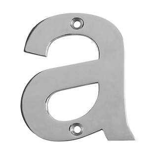 03cd483040b Eurospec House Door Letter a Polished Stainless Steel 80mm (9602P)