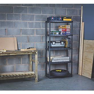 huge discount 048da e1409 Freestanding Plastic Shelving 5-Tier 850 x 400 x 1850mm