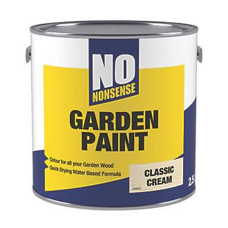 No Nonsense Garden Colour Wood Paint Semi-Matt Classic Cream 2 5Ltr
