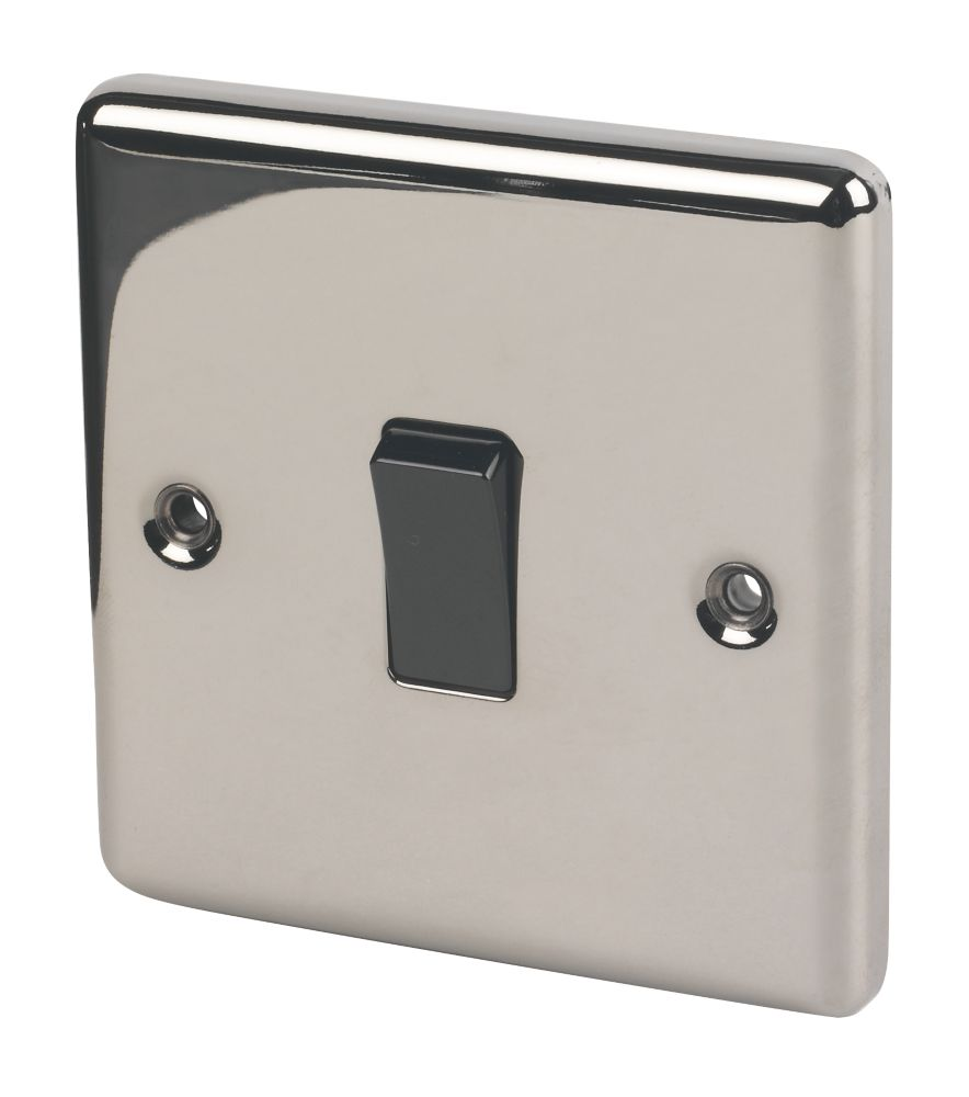 Lap 10ax 1 Gang 2 Way Light Switch Black Nickel With Colour Matched Inserts Switches Sockets Screwfix Com