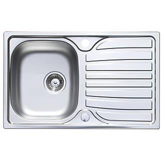 Astracast Kitchen Sinks Astracast cascade kitchen sink stainless steel 1 bowl 800 x 500mm astracast cascade kitchen sink stainless steel 1 bowl 800 x 500mm sinks screwfix workwithnaturefo