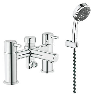 Shower From Bath Taps grohe feel deck-mounted bath/shower mixer tap | bath taps | screwfix