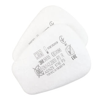 3M 5935 Particulate Filters P3R 2 Pack | Dust Mask Filters | Screwfix.com