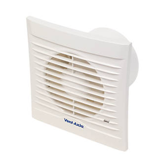 Vent Axia 100t 15w Bathroom Extractor Fan With Timer White 240v Bathroom Extractor Fans Screwfix Com