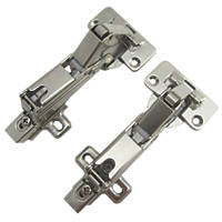 Nickel Soft-Close Clip-On Concealed Hinges 35mm 2 Pack