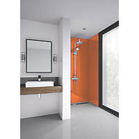 Splashwall Bathroom Splashback Gloss Pumpkin 600 x 2420 x 4mm