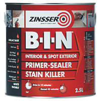 Zinsser B-I-N Shellac-Based Primer Sealer 2.5Ltr
