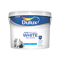 Dulux Matt Emulsion Paint Pure Brilliant White 10Ltr