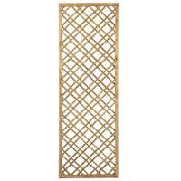 Forest  Softwood Rectangular Double-Slatted Trellis 2 x 6' 3 Pack
