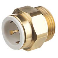 "Flomasta SBMCC6741M Brass Push-Fit Adapting Male Pipe Fitting Adaptor 22mm x 1"""