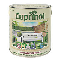 Cuprinol Garden Shades Exterior Wood Paint Matt White Daisy 2.5Ltr