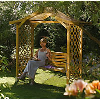 Rowlinson Dartmouth Arbour 2.24 x 1.09 x 2.33m Natural timber