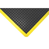 COBA Europe Bubblemat Anti-Fatigue Floor Mat Black / Yellow 1.2 x 0.9m