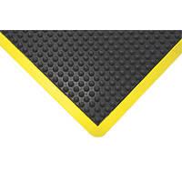 COBA Europe Bubblemat Anti-Fatigue Mat Black / Yellow 1.2m x 0.9m
