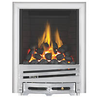 Focal Point Horizon Chrome Rotary Control Inset Gas Full Depth Fire