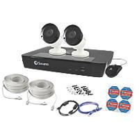 Swann SWNVK-474502-UK 4-Channel 5MP NVR CCTV Kit with 2 Cameras