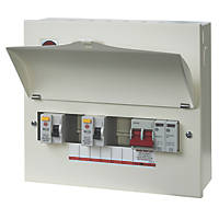 Wylex  13-Module 5-Way Part-Populated  Dual RCD Consumer Unit with SPD