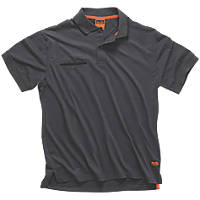 "Scruffs Worker Polo Shirt Graphite X Large 46"" Chest"