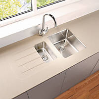 Metis  Sand Sink Module with 1.5 Bowl Stainless Steel Sink 3050 x 620 x 15mm