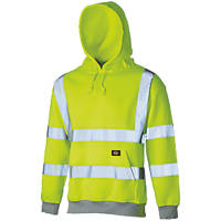 "Dickies SA22090 Hi-Vis Hoodie Saturn Yellow X Large 50"" Chest"